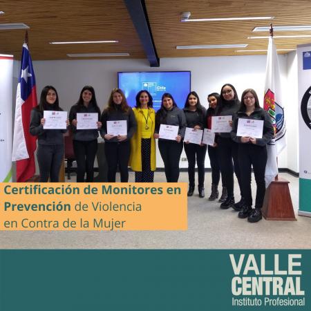 Certificación de Monitores en Prevención de Violencia en Contra de la Mujer