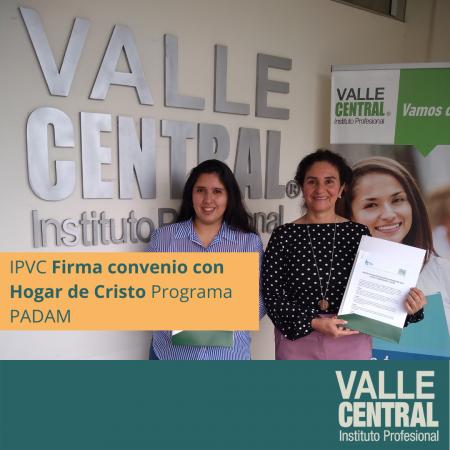 IPVC Firma convenio con Hogar de Cristo Programa PADAM